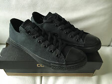 CONVERSE ALL STAR MENS CANVAS 'BLACK/BLACK' LOW-TOP TRAINERS UK8 EUR41.5