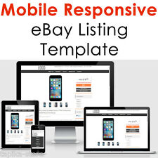 eBay Listing Template Auction HTML Professional Mobile Responsive Design