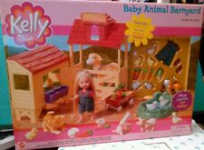 2001 Barbie Kelly Tommy Baby Animal Barnyard with animals & accessories, outfit