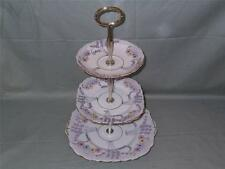 Vintage Colclough China 3-Tier anfitriona Placa de la Torta Soporte Deco Patt. No.1524