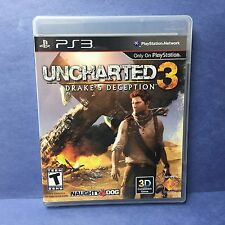 Uncharted 3 Drake's Deception(Sony PlayStation 3 PS3/2011)NAUGHTY DOG EXCELLENT!