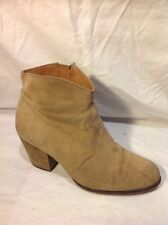 Office London Brown Ankle Suede Boots Size 39