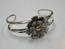 Vintage Joseph Esposito ESPO Flower Cuff Bracelet   N245-V