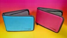 Nintendo 3DS XL / 3DS DSi XL (2) Case travel System + Game organizer Blue + Pink