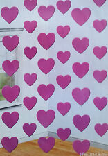 42ft of PINK HEART FOIL STRING DECORATIONS VALENTINES DAY & RUBY