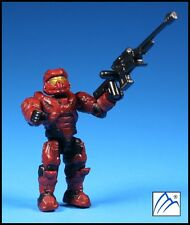 HALO MEGA BLOKS UNSC CRIMSON RED SPARTAN W/ SNIPER RIFLE MINI FIGURE