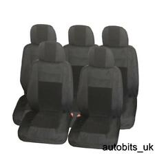 PREMIUM BLACK 5X FABRIC FULL SET SEAT COVERS FOR 5 SEATER RENAULT SCENIC KOLEOS