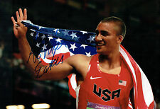 Ashton EATON Autograph Signed 12x8 Photo AFTAL COA American Decathlon Gold