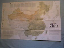CHINA MAP + THE FORBIDDEN CITY National Geographic May 2008 MINT