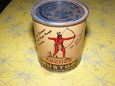 FULL 1950s Vintage ARCHER INDIAN RUSTOP Old Graphic 8 oz. Oil Can