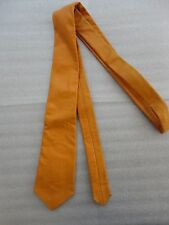 Closeout Men's Mustard Color Leather Neck Tie Brand New C-11