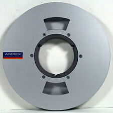 "AMPEX 1/2"" x 9"" COMPUTER STYLE Aluminum NAB TAPE REEL-12 SCREW HUB-SOLID BACK"
