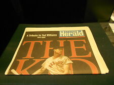 Boston Herald Newspaper A Tribute to Ted Williams 1918-2002 July 8 2002 7-8-2002