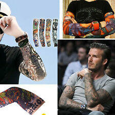 1 pair Fashion Tattoo Cool Arm Cover Sleeve Cuff Outdoor Sport Protection B
