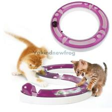 Funny Cat Pet Baby Track and Ball Toys Senses Play Chase Game White & Purple