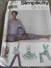 SEWING PATTERN S5372 MISSES PANTS SHORTS CAMISOLE TOP YOGA ACCESSORIES 4 TO 10