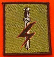 Special Forces Support Group TRF Coloured Velcro Backed Army TRF DZ Flash
