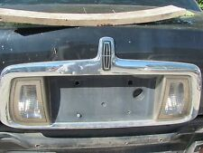 LINCOLN LS 2000 2001 2002 CHROME REAR LICENCE PLATE BRACKET WITH LIGHTS