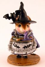 WEE FOREST FOLK  SPECIAL COLOR WITCH TEACHERS PET SIGNED & NUMBERED #15 SOLD OUT