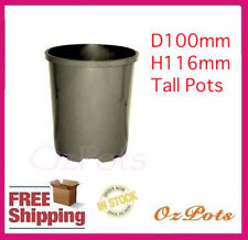 100mm Tall Plastic Garden Pots x 18pcs - Great Pots for Herbs & Propagation