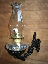 Beautiful Wall Mount Oil Lamp Holder (sconce) And Oil Lamp