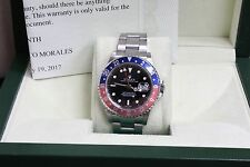 ROLEX 16710 GMT MASTER II PEPSI BLUE & RED BEZEL STAINLESS STEEL 2005