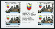 Ireland 708b, MNH. Dublin Millennium Booklet pane of 4 in English, 1988