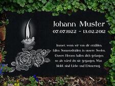 Grabstein Grabplatte Grabtafel aus Granit 20x15 cm Wunsch Gravur mit Motiv g48