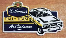 ROTHMANS RALLY TEAM FORD ESCORT MK2 ARI VATANEN Motorsport Adesivo Decalcomania