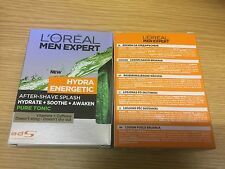 2 X L'Oreal Men Expert Hydra Energetic After Shave Splash PURE TONIC 100ml