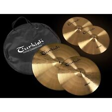 "Turkish Becken Set CSET1 14"" Hi-Hat 16"" Crash 20"" Ride + Cymbal Bag"
