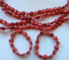 Valentines day red heart beads For Jewelry Making