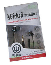 NEW Wicked Metallics 3.5mm Stereo Earbuds Headset Blackberry 9800 9810 9850 9860