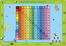Multiplication square-children 's educational napperon par little wigwam