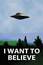 "The X-Files I Want To Believe TV Poster 24""x36"" UFO  Print For Home Decoration 1"
