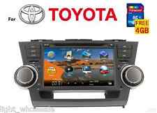 "8"" 2Din FM Radio GPS Navigation Car DVD Player for Toyota Highlander 2008-12+Map"