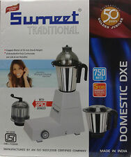Sumeet Mixer Grinder Traditional Domestic Dxe 750watts MRP 4499 3 Jars