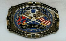 Just Brass Inc Belt Buckle USA Gettysburg Emblem Bald Eagle American Flag Swords