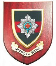 COLDSTREAM GUARDS CLASSIC  HAND MADE IN THE UK REGIMENT MESS PLAQUE