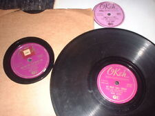 78RPM 3 Okeh by Gene Autry, TweedleTwill, At Mail Call,Sweethearts Strangers V-