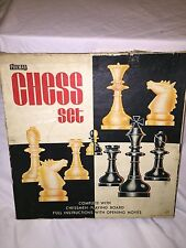 1960'S Vintage Philmar Chess Set With Board And Full Instructions