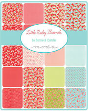 "SQ118 Moda LITTLE RUBY FLANNELS Precut 5"" Charm Fabric Quilting Squares 55130PPF"