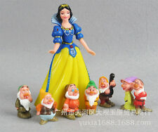 Disney Snow White & 7 Dwarfs Large Birthday Cake Topper Figurines Toy Set USA