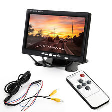 7 INCH TFT LCD Colore Auto Rearview MONITOR RETROMARCIA CCTV Camera DVD + IR Rearview