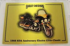 Harley Davidson Series 1 Gold Card 1988 Electra Glide - Card # 268 of 1000