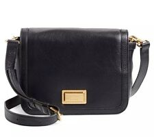 NWT Marc By Marc Jacobs Take Your Marc Black Leather Crossbody Shoulder Bag $348