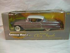 American Muscle 1958 Chevy Impala In A Cream 118 Scale Diecast Ertl 2000   dc235
