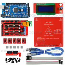 3D Printer Kit RAMPS 1.4+PCB Heated Bed +LCD2004 Controller+ Mega2560 R3+A4988