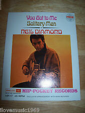 "RARE Neil Diamond 4"" Inch MINT SS 45 Philco Ford HP-17 SEALED Hip Pocket NEW Fle"