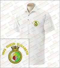 HMS Queen Elizabeth Embroidered Polo Shirts
